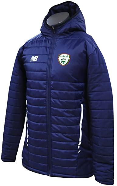 New Balance Men's Offical Fai Merchandise Ireland Stadium Jacket (Large) - Navy